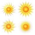 Sun Logo Set Royalty Free Stock Photo