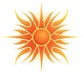 Sun logo a vector icon image graphic symbol day summer light bright Stock Photos