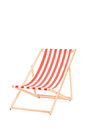 Sun lounger in stripes isolated on white background Stock Photo
