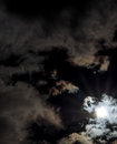 Sun after lunar eclipse immediately partial Royalty Free Stock Image
