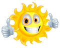 Sun man cartoon character Stock Images