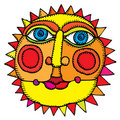 Sun in middle of summer Royalty Free Stock Photo