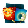 Sun and Moon Stock Photography