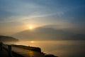 Sun Moon Lake at the morning Royalty Free Stock Photo