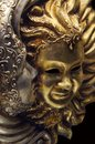 Sun and Moon mask on Venice Carnival Royalty Free Stock Photo