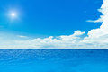 Sun ocean tropical horizontal composition Stock Photography
