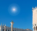Sun over San Marco square Royalty Free Stock Photo