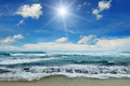 Sun over sea Royalty Free Stock Photo