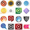 Sun Planetary Sign Icon Set Stock Photo
