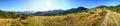 Sun rays mountain landscape Royalty Free Stock Photo