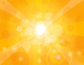 Sun Rays on Orange Background Illustration Royalty Free Stock Photo