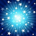 Sun Rays and Stars Royalty Free Stock Images
