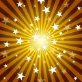 Sun Rays and Stars Royalty Free Stock Photos