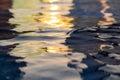 sun reflection water Royalty Free Stock Photo