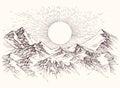 Sun rise sketch