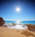 Sun and sea on a beach of Porto Katsiki on Lefkada Stock Photography