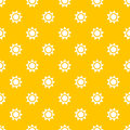 Sun seamless pattern Royalty Free Stock Photo