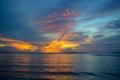 Sun send on the beach in kho samui island thailand Royalty Free Stock Photography