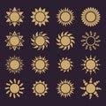 The sun set of 16 icon. Sunrise and sunshine, weather, sun symbol Royalty Free Stock Photo