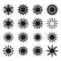 The sun set of 16 icon. Sunrise and sunshine, weather symbol Royalty Free Stock Photo