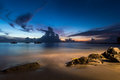 The Sun Sets in Saint Lucia Royalty Free Stock Photo