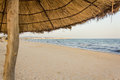 Sun shade on the beach Royalty Free Stock Photo