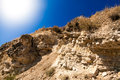 Sun shining above clifs beautiful landscape of Royalty Free Stock Photo