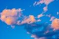 The sun shining through a dramatic cloudy sky. Royalty Free Stock Photo