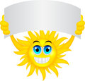 Sun with sign illustration of Royalty Free Stock Image