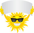 Sun with sign illustration of Royalty Free Stock Images