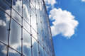 The sun and the sky in a glass building Royalty Free Stock Photo