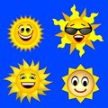 Sun smile Stock Image