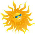 The Sun smiles Royalty Free Stock Photo