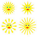 Sun smiles collection Royalty Free Stock Photo