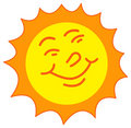 Sun smiling Stock Image
