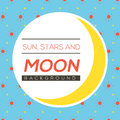 Sun Stars And Moon Background. Royalty Free Stock Photo
