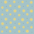 Sun and stars seamless pattern background featuring Stock Photos
