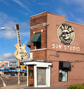 Sun studio memphis tennessee is a recording opened by rock and roll pioneer sam phillips at union avenue in on january Royalty Free Stock Photography