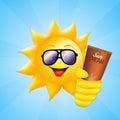 Sun with sun lotion