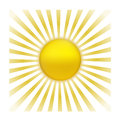 Sun with sunburst eps vector Royalty Free Stock Images