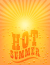 Sun sunburst pattern hot summer vector illustration Royalty Free Stock Image