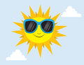 Sun Sunglasses Royalty Free Stock Image