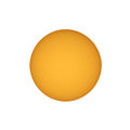 Sun with sunspots seen with telescope Royalty Free Stock Photo