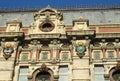 Sun symbol on Palacio de Aguas Corrientes in Buenos Aires Royalty Free Stock Photo