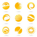 Sun symbols Royalty Free Stock Photos