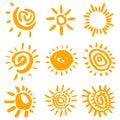 Slunce symboly vektor