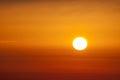 Sun in tenerife sunrice island from el teide volcano Royalty Free Stock Images