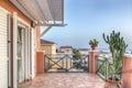 Sun terrace in the beautiful villa Royalty Free Stock Photo
