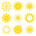 Sun vector icons Royalty Free Stock Photo
