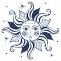 Sun. Vintage style. Astrology. Ethnic. Pagan. Boho Style. Vector